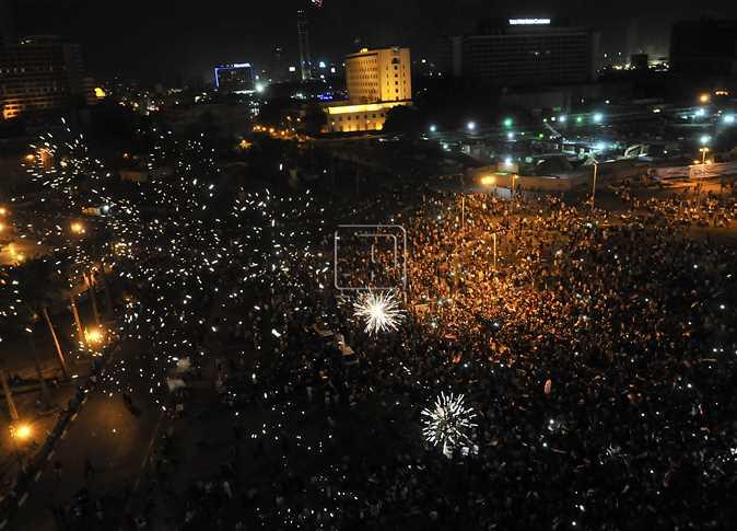 احتفالات في التحرير بإعلان السيسي رئيسًا