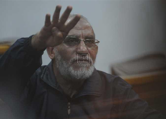 محاكمة محمد مرسي، ومحمد بديع وخيرت الشاطر وصفوت حجازي وسعد الكتاتني وعصام الحداد وآخرين في قضية التخابر مع جهات أجنبية.