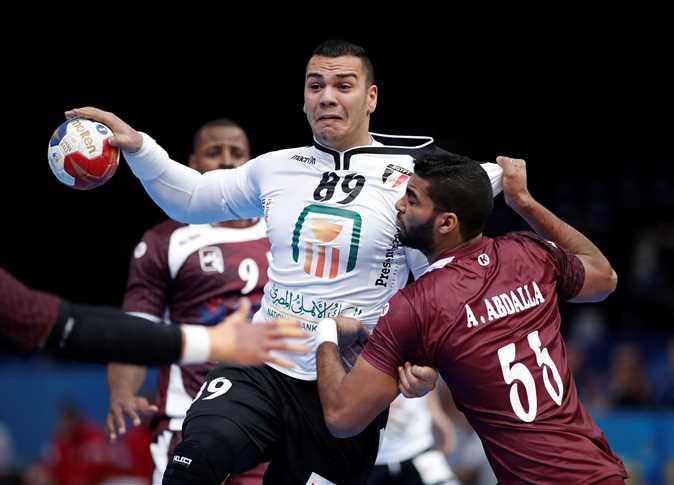 مباراة مصر وقطر في بطولة كأس العالم لكرة اليد، 13 يناير 2017. - صورة أرشيفية