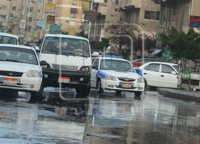 سقوط أمطار خفيفة على شوراع بورسعيد- صورة أرشيفية