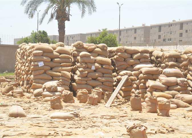 محافظ المنيا يتابع أعمال توريد القمح بالشونة المركزية   - صورة أرشيفية