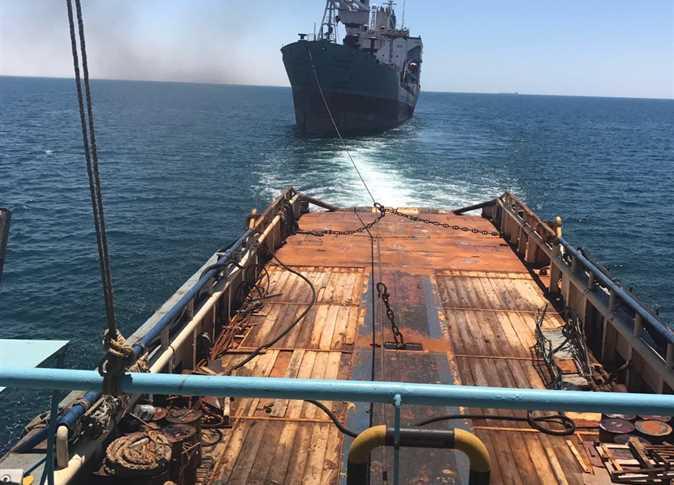 إنقاذ سفينة بضائع تابعة لشركة الملاحة الوطنية من الغرق في البحر الاحمر - صورة أرشيفية
