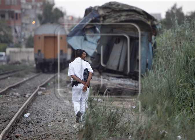 إزالة آثار حادث تصادم قطاري الإسكندرية، 12 أغسطس 2017.