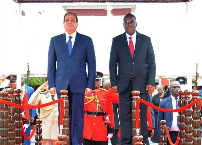مراسم استقبال السيسي في تنزانيا. - صورة أرشيفية