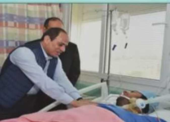 الرئيس السيسي يزور النقيب محمد الحايس - صورة أرشيفية