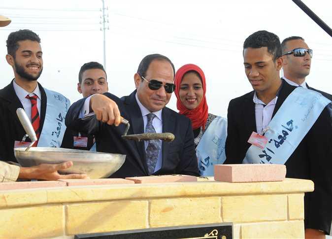 السيسي يفتتح مزرعة «بركة غليون» السمكية في محافظة كفر الشيخ