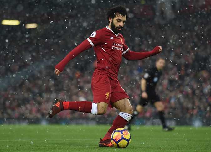 محمد صلاح خلال مباراة ليفربول وإيفرتون