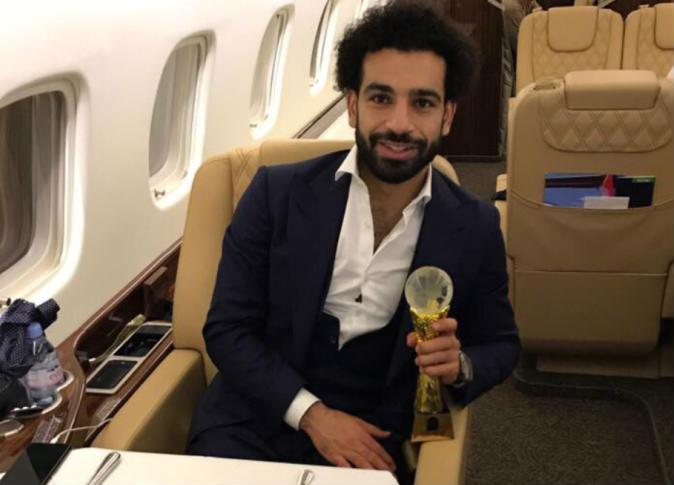 محمد صلاح عقب الفوز بجائزة أفضل لاعب أفريقي 2017