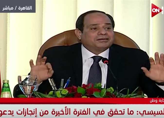الرئيس عبد الفتاح السيسي في مؤتمر «حكاية وطن»