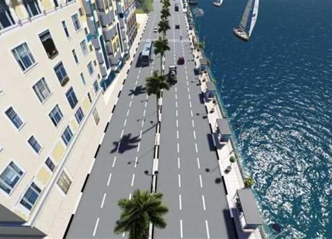 مشروع توسعة كورنيش النيل الغربى بسوهاج