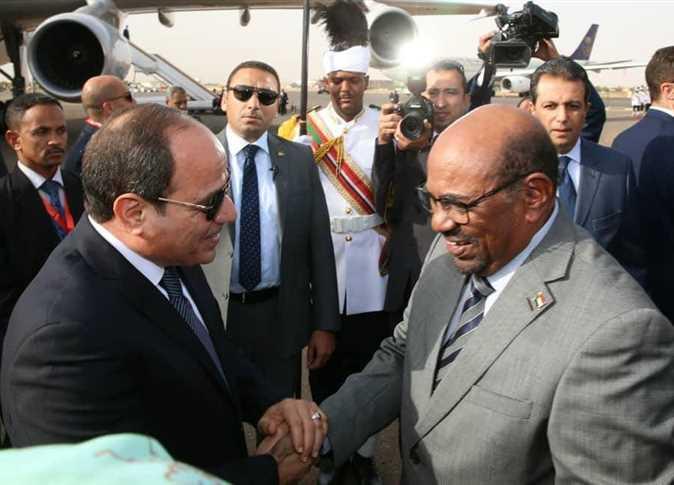 مراسم استقبال الرئيس عبد الفتاح السيسي وحرمه انتصار السيسي في العاصمة السودانية الخرطوم