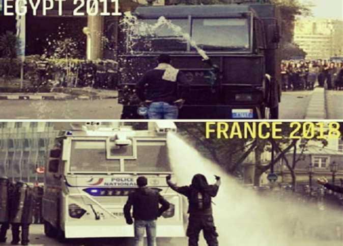ثورة يناير واحتجاجات فرنسا
