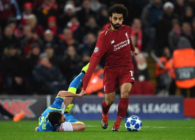 محمد صلاح في مباراة ليفربول ونابولي - 11 ديسمبر 2018