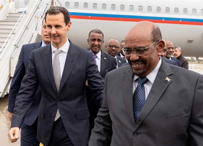 الرئيس السوري بشار الأسد يستقبل نظيره السوداني عمر البشير