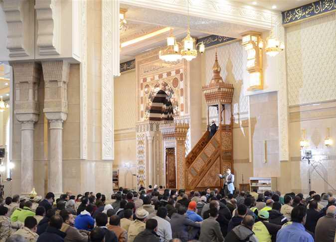 خطبة الجمعة لأسامة الازهرى، مستشار الرئيس للشئون الدينية، في مسجد الفتاح العليم فى العاصمة الإدارية بعد افتتاحه.