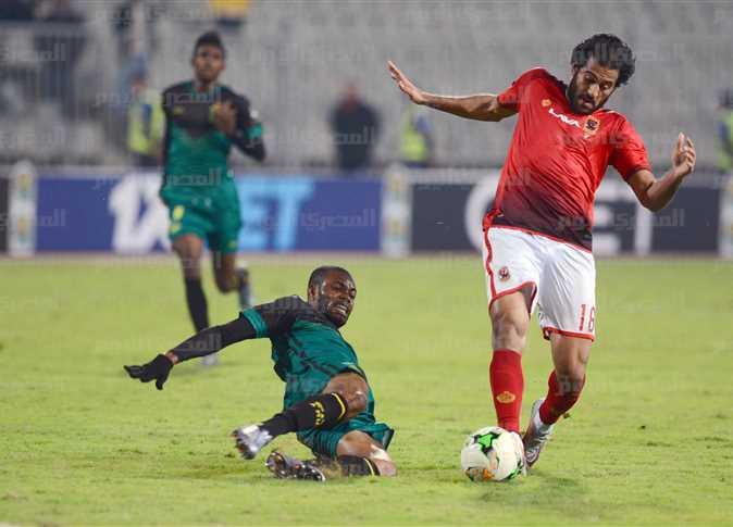 مروان محسن خلال مباراة الأهلي و فيتا كلوب في دوري أبطال أفريقيا