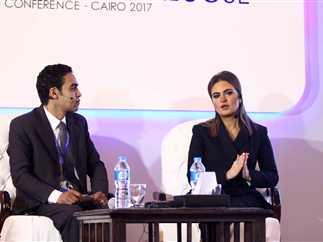 وزيرة الاستثمار والتعاون الدولي الدكتورة سحر نصر تفتتح مؤتمر «حوار مع الحكومة»، 21 مارس 2017.