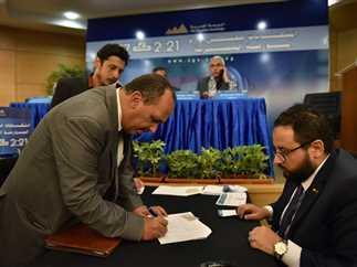 انتخابات مجلس إدارة البورصة المصرية على مقعدي الشركات، 24 يوليو 2017. تصوير: حليم الشعراني.