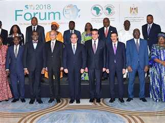 الرئيس عبد الفتاح السيسي يشارك في الجلسة الافتتاحية للمنتدى الأفريقي الثالث للعلوم والتكنولوجيا والابتكار، 10 فبراير 2018.