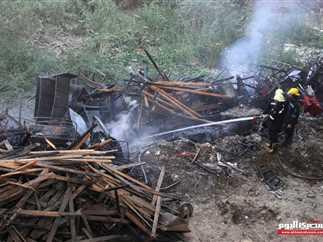 حريق مخزن حي الهرم بالمريوطية