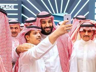 منتدى الاستثمار الدولي في العاصمة السعودية الرياض بحضور ولي العهد السعودي محمد بن سلمان وعدد من الرؤساء والمسؤولين