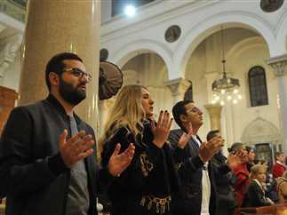 احتفالات الأقباط الكاثوليك بالعام الجديد في كنيسة سان جوزيف بالقاهرة - صورة أرشيفية