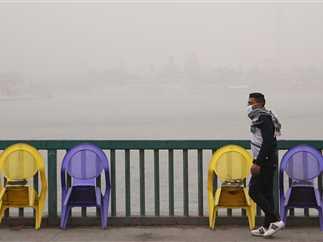 عاصفة ترابية وطقس سئ بالقاهرة