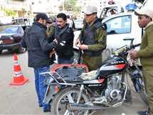 حملة مرورية بمدينة المنصورة
