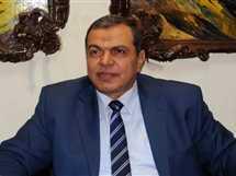 مؤتمر محمد سعفان وزير القوى العاملة بالإسكندرية، 28 مارس 2017. - صورة أرشيفية
