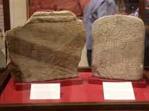 وزير الآثار يفتتح «معرض أبو سمبل» بالمتحف المصري، بحضور وزيرة التضامن الاجتماعي، 14 مايو 2017.