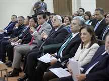 مؤتمر الإعلان عن إنشاء مستشفى أبو الريش الياباني الجديد، بحضور المستشار عدلي منصور، الرئيس السابق، والدكتور جابر نصار، رئيس جامعة القاهرة والسفير الياباني، 16 مايو 2017.