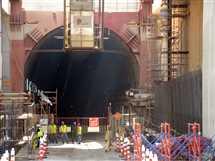 جولة داخل أنفاق قناة السويس مع اقتراب الانتهاء من المشروع  - صورة أرشيفية