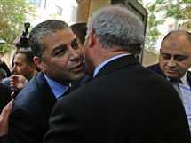 وفد المخابرات المصرية يلتقي نائب رئيس الوزراء الفلسطيني زياد أبو عمرو في قطاع غزة - صورة أرشيفية