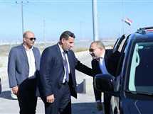 """الوفد الأمني المصري خلال وصوله إلى غزة واستقبال قادة """"حماس"""" له"""