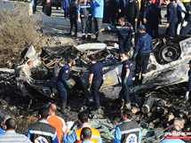 احتراق أتوبيس بالطريق الدولي الساحلي غرب الإسكندرية عقب انقلابه ووفاة 8 أشخاص وإصابة 22 آخرين