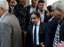 محاكمة رجل الأعمال أحمد عز بتهمة «إهدار المال العام»، بمحكمة جنايات القاهرة، المنعقدة في التجمع الخامس، 5 مارس 2018. - صورة أرشيفية