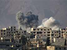 استمرار الغارات الجوية على أحياء الغوطة الشرقية في دمشق