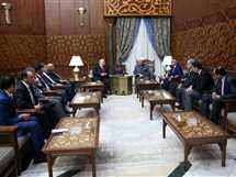 الدكتور أحمد الطيب، شيخ الأزهر يلتقي المستشارين أعضاء الهيئة الوطنية للانتخابات برئاسة المستشار لاشين إبراهيم