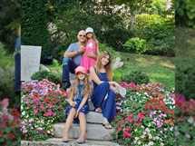 نشرت نانسي عجرم صورة تجمعها بزوجها وبناتها