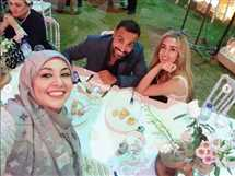 نشرت الإعلامية غادة عادل سيلفي يجمعها بأحمد فهمي وهنا الزاهد من حفل خطوبتهم