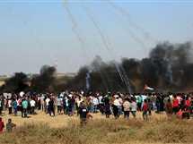 اشتباكات بين فلسطينيين وقوات الاحتلال الإسرائيلي جنوب قطاع غزة