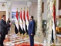 هشام عبد الغني أمنة، محافظ البحيرة يؤدي اليمين الدستوري أمام السيسي