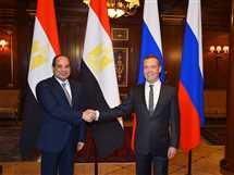 السيسي يلتقي رئيس الوزراء الروسي دميتري ميدفيديف - 16 أكتوبر 2018