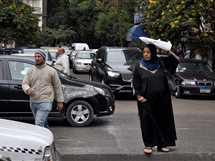 سوء الأحوال الجوية بشوارع القاهرة