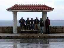سقوط الأمطار على الإسكندرية